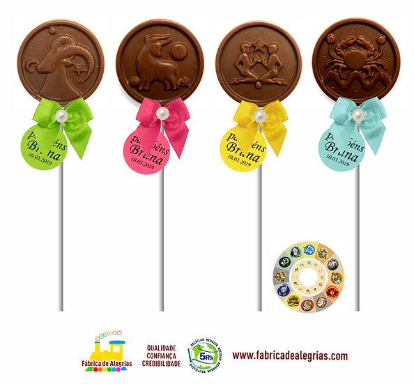 Pirulitos de Chocolate Signos do Zoodíaco