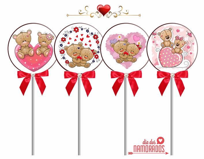 Pirulito de Chocolate Dia dos Namorados
