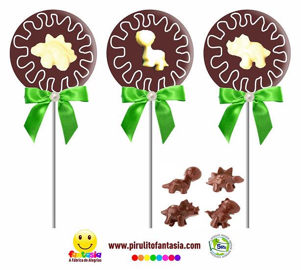Pirulitos de Chocolate Dinossauros