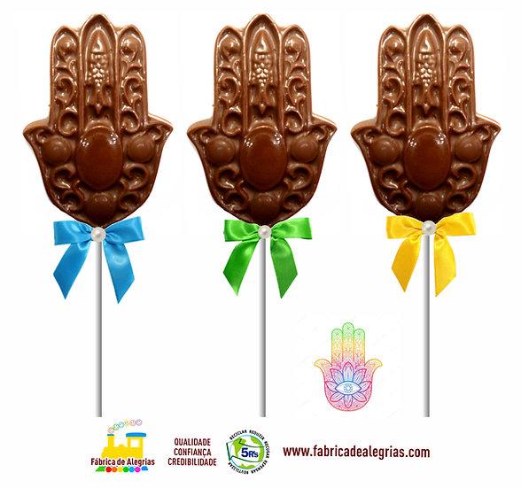 Pirulito de Chocolate Mão Indiana