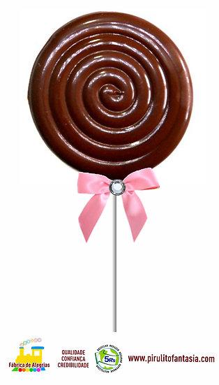 Pirulito de Chocolate Espiral Psicodélico