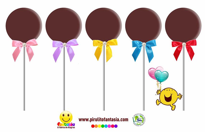 Pirulito de Chocolate redondo liso