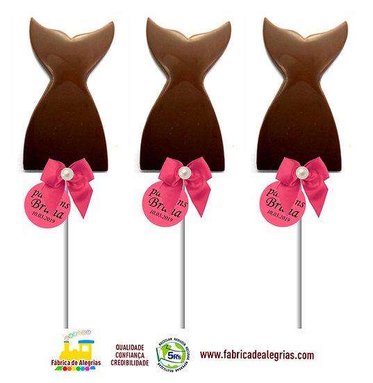 Pirulitos de Chocolate Cauda de Sereia