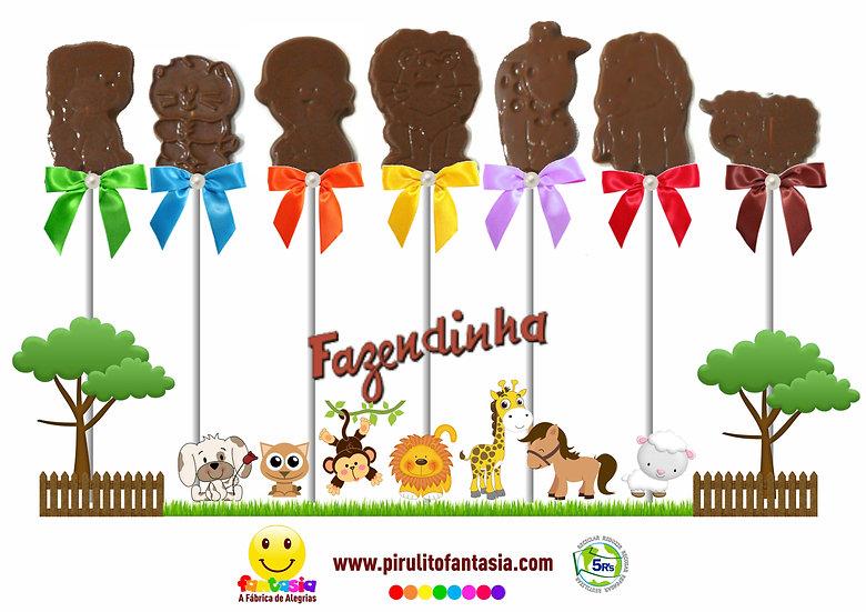 Pirulitos de Chocolate Bichinhos Pets
