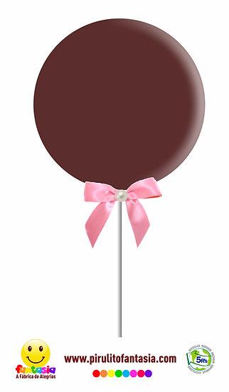 Pirulitos de Chocolate Redondo