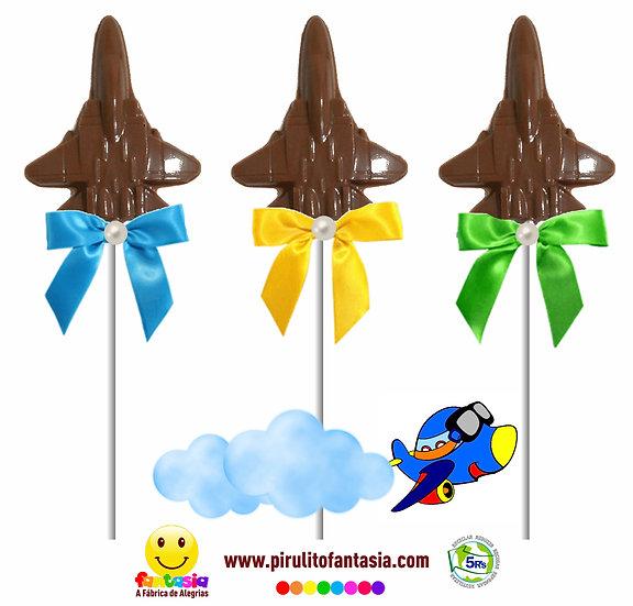 Pirulito de Chocolate Aviãozinho