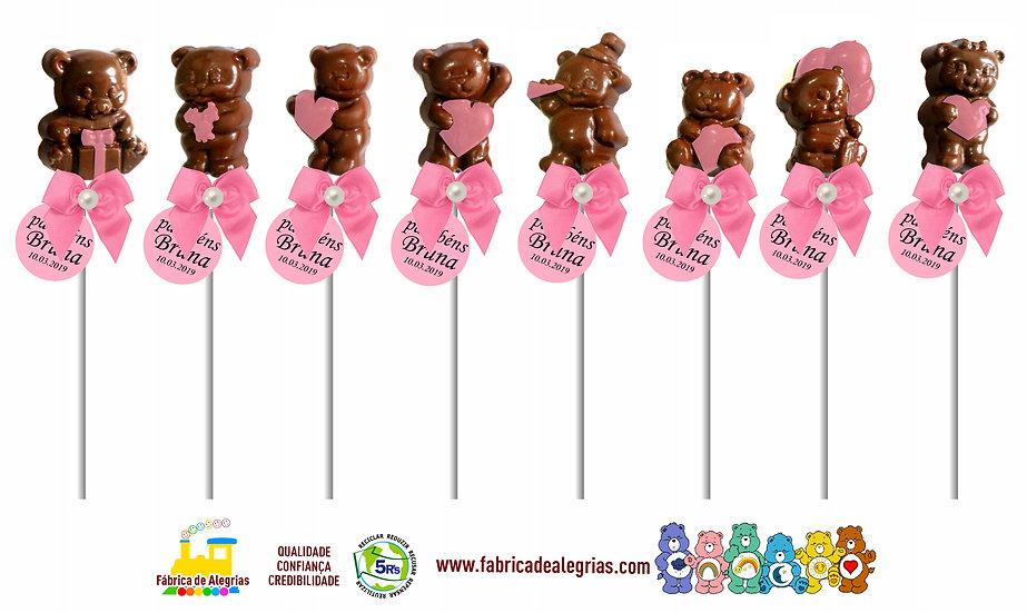 Pirulitos de Chocolate Ursinhos Carinhosos