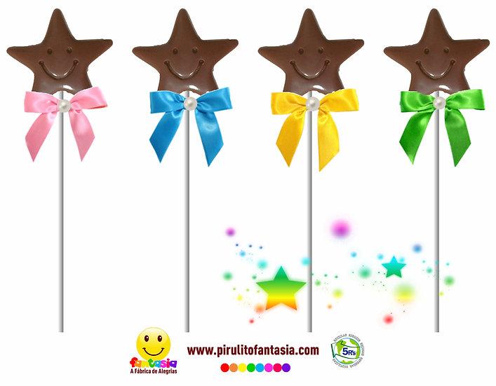 Pirulito de Chocolate Estrela