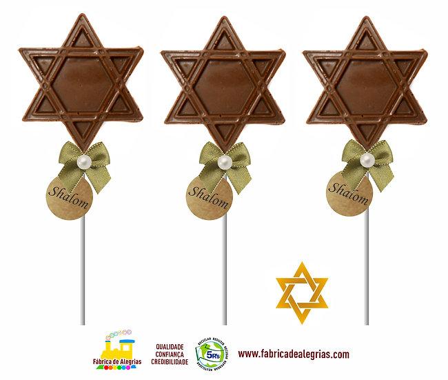 Pirulito de Chocolate Estrela de Davi
