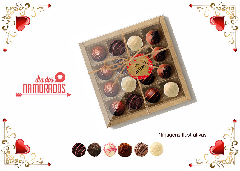 Trufas de Chocolate Dia dos Namorados
