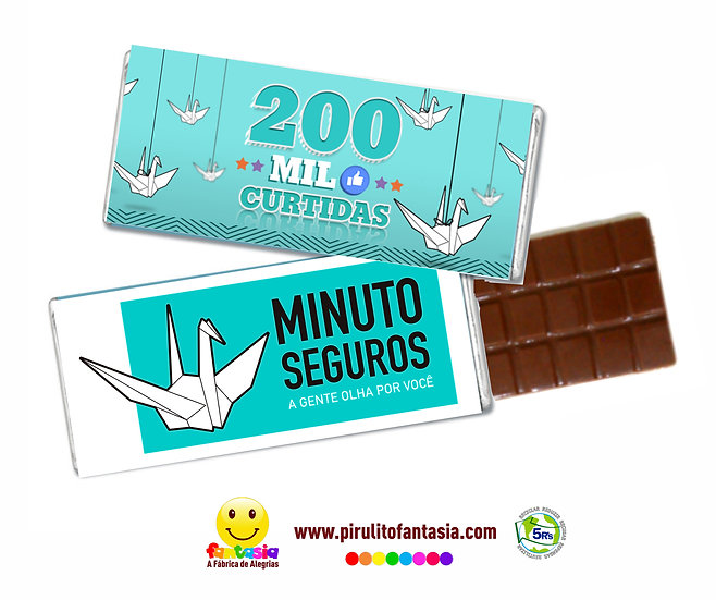 Barrinhas de Chocolate Fantasia