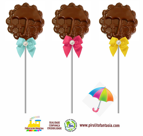 Pirulito de Chocolate Guarda Chuva