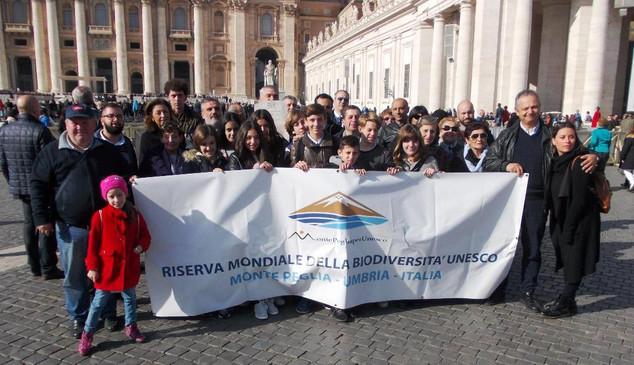La Riserva partecipa all'Udienza Generale del Papa