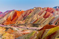Amazing scenery of Rainbow mountain and