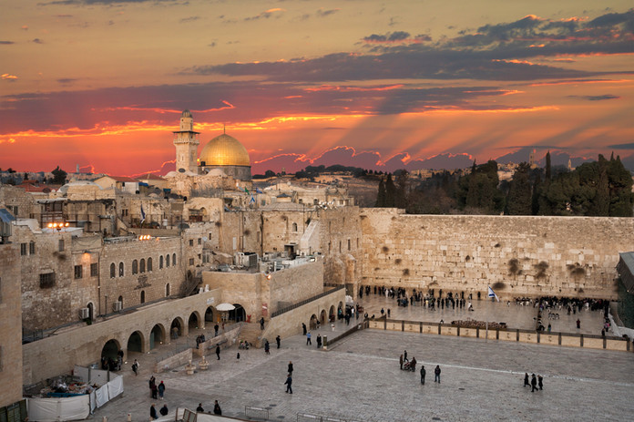 Western Wall at the Dome Of The Rock on