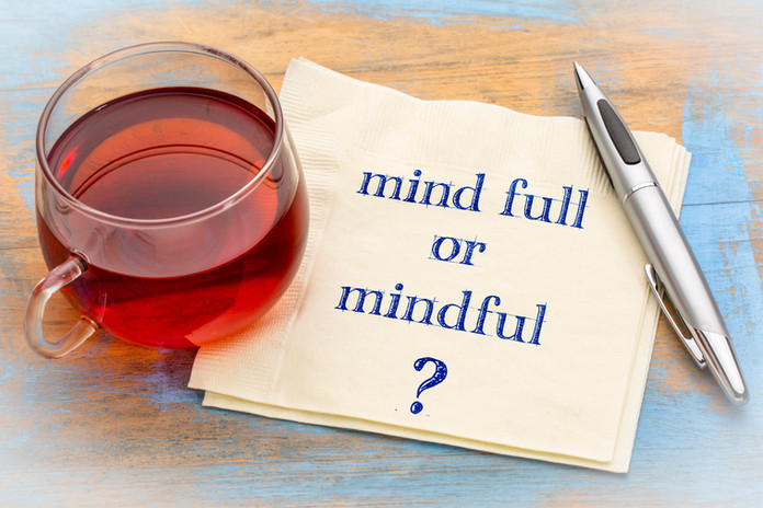 Mind full or mindful   Inspiraitonal han