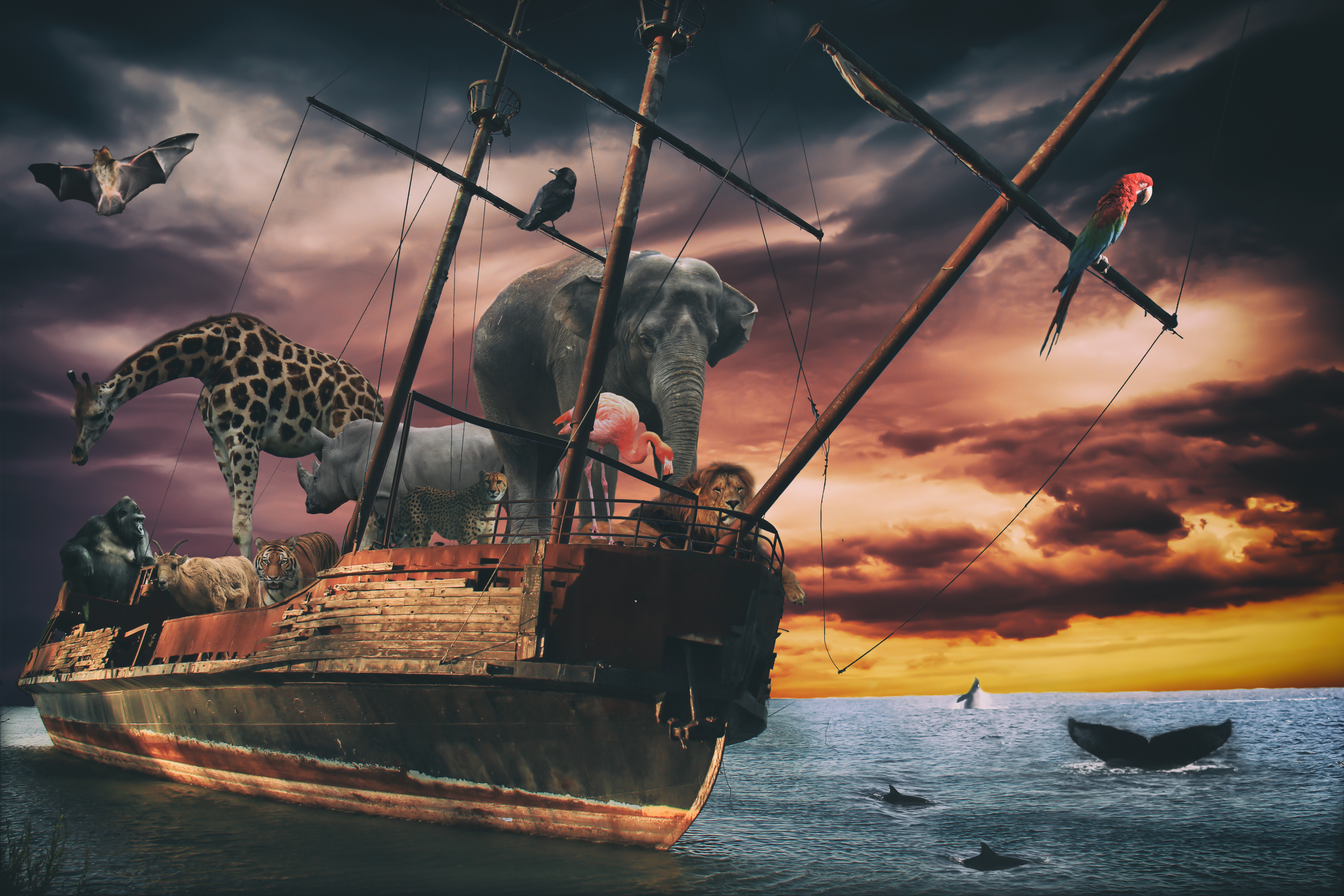 Noahs Ark Fantasy Animal Ship