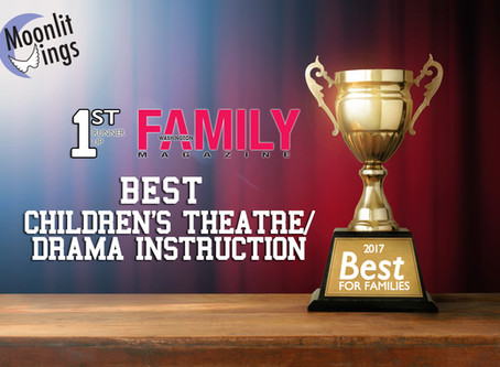 "Moonlit Wings Wins ""Best Children's Theatre/Drama Instruction"" First Runner-Up from Wa"