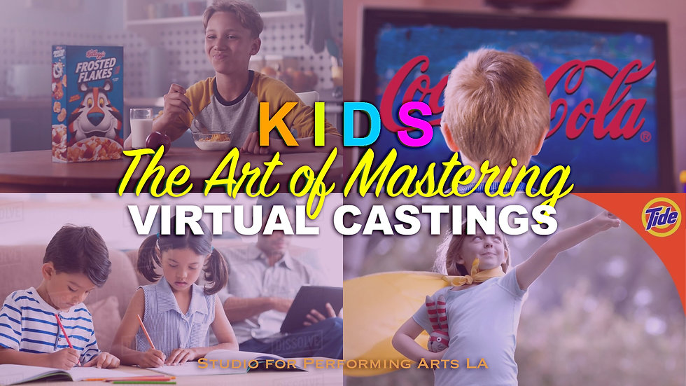 KIDS 2-PART VIRTUAL CLASS w/CASTING DIR. LISA PANTONE & 2 AGENTS 10/17 & 10/24