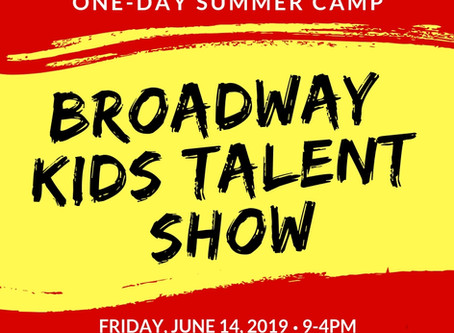 One-Day Camp: Broadway Talent Show on June 14, 2019