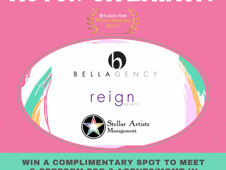 Actor Giveaway Win VIP Showcase with 3 Hollywood Talent Reps