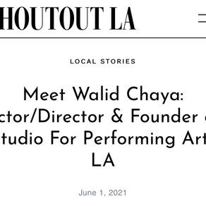 Shoutout LA Interview with Walid Chaya Actor Director