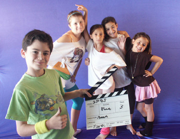 "Kids prepare to act in ""Movie Magic"" scenes at Moonlit Wings Productions."