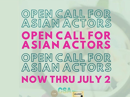 Asian Actors Open Call Casting Society of American (CSA)
