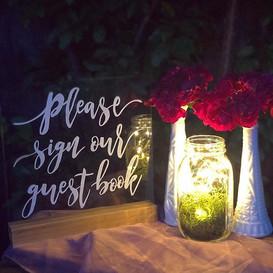 Milk glass, mason jars and fairy lights