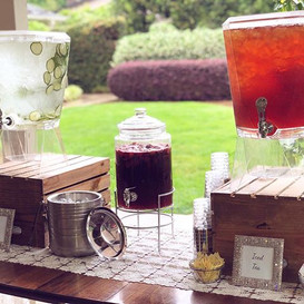 Spa water, Iced Tea & Sangria at the bev