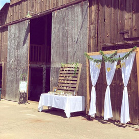Gorgeous day for a party. This barn was