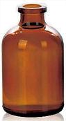 Envase Frasco de vidrio 50ml boca inyectable Levin
