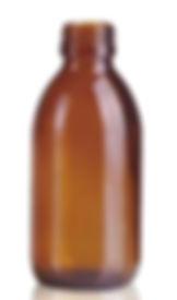 Envase Frasco de vidrio 200ml boca 28 Levin