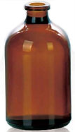 Envase Frasco de vidrio 100ml boca inyectable Levin