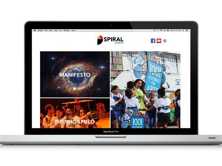 Nova marca, novo site! Um projeto feito em casa...