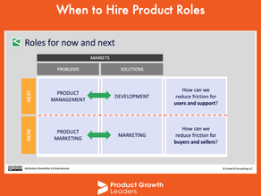 When to hire product roles