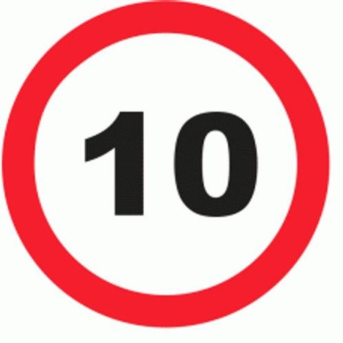 (70025) Velocidade Máxima 10 Km/h