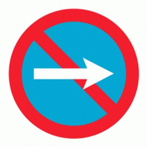 (70031) Estacionamento Proibido Direita