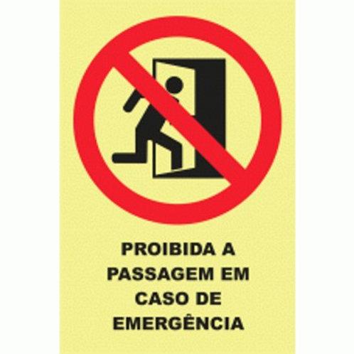 (20920) Proibida a Passagem em Caso de Emergência