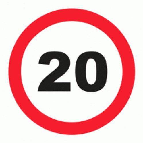 (70027) Velocidade Máxima 20 Km/h
