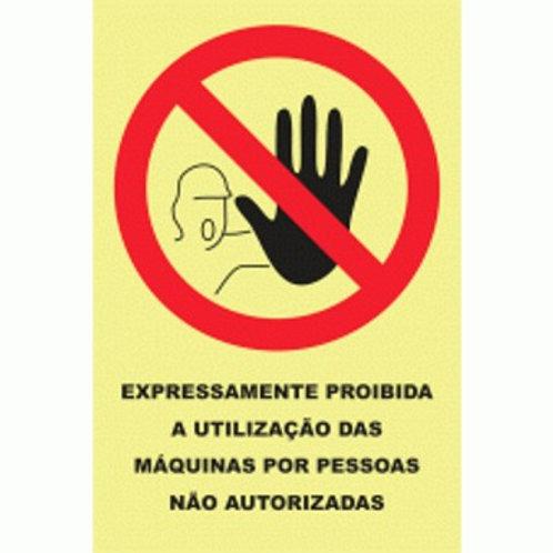 (20916) Proibida a Utilização de Máquinas por Pessoas não Autorizadas