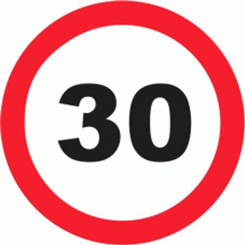 (70028) Velocidade Máxima 30 Km/h