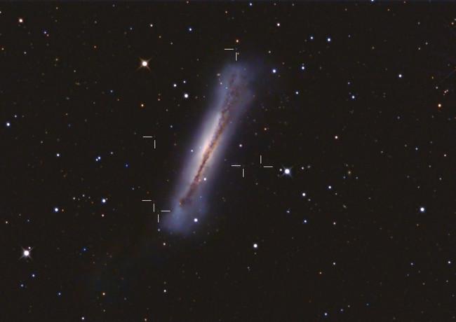 Hamburger Galaxy + distant Quasars NGC3628