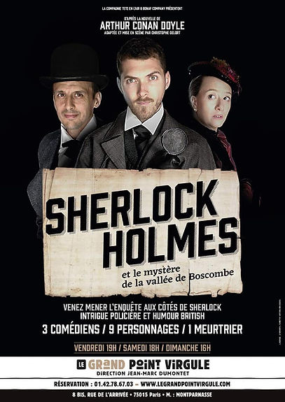 Sherlock holmes Enquete spectacle Humour comedie succes