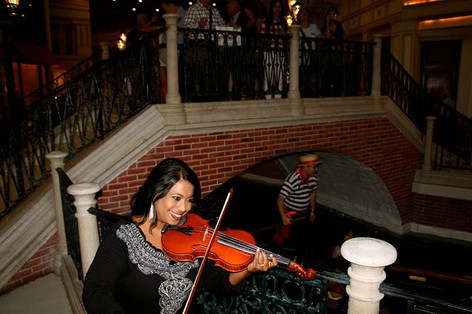 Performing at the Venetian, Las Vegas