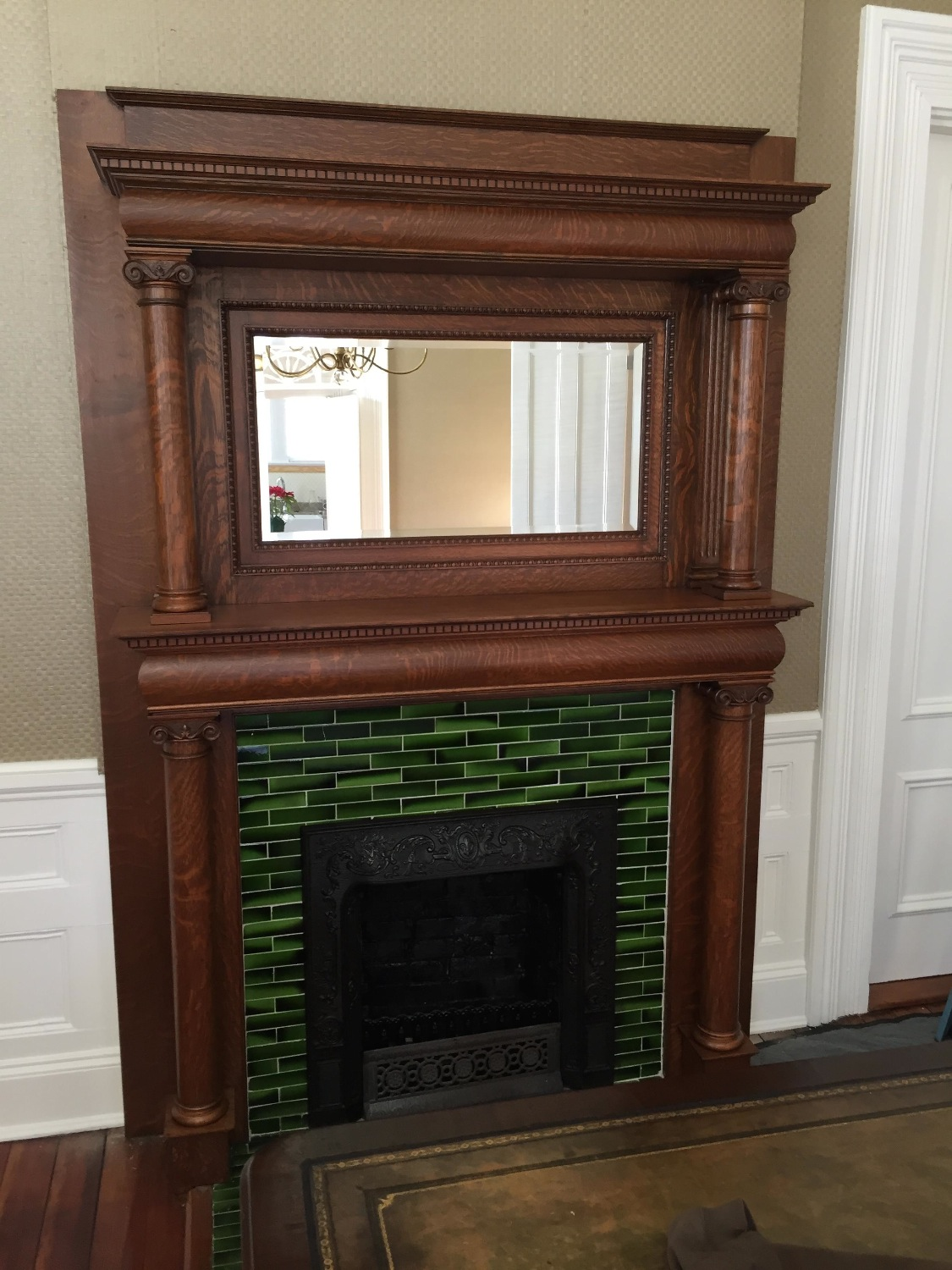 AFTER - Oak Mantle
