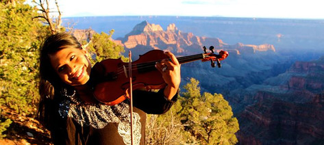 Udeshi Hargett performing at the Grand Canyon, Arizona