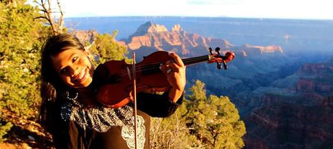 Udeshi Hargett performing at the Grand Canyon, Arizona