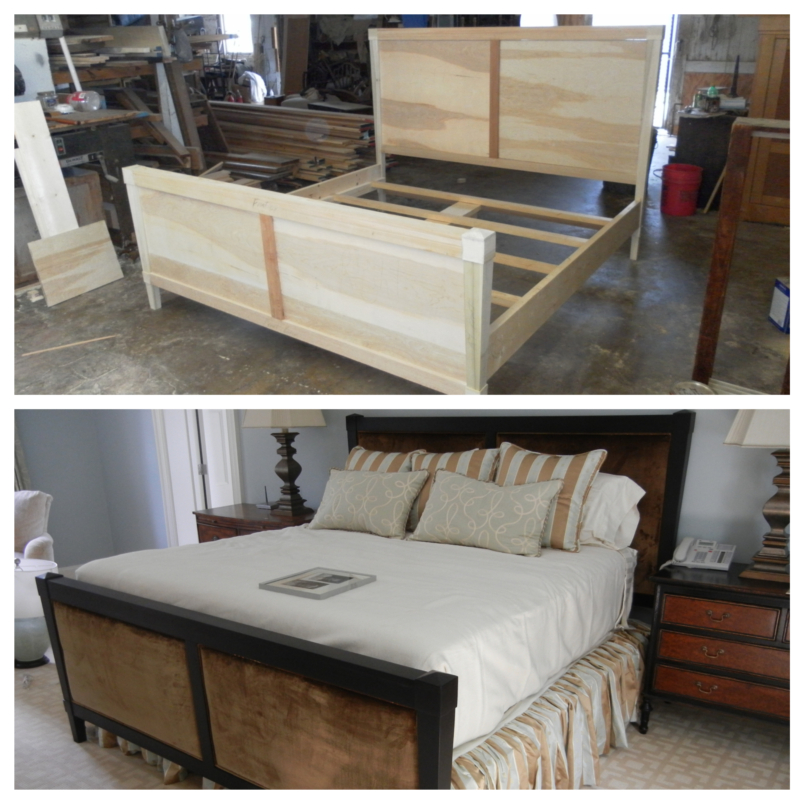 Custom made bed