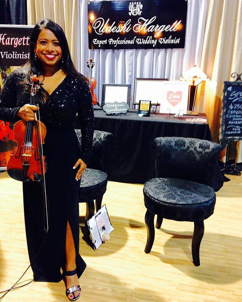 Udeshi Hargett at her Forever Bridal wedding show booth
